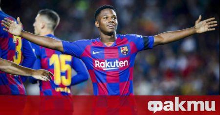 Двама от младите таланти на Барселона Ансу Фати и Педри