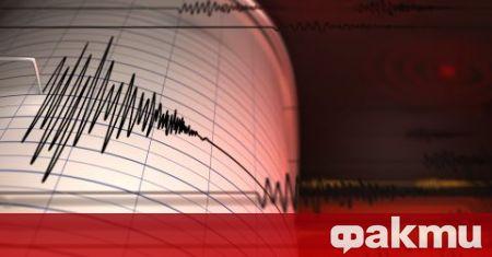 Земетресение с магнитуд 2,6 по скалата на Рихтер е регистрирано