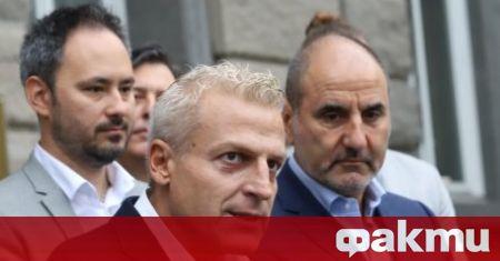 Лидерите на Национално обединение на десницата Петър Москов и Цветан