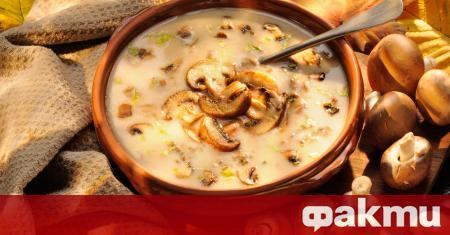 Необходими продукти: 250 г кафяви или бели печурки гъби 1
