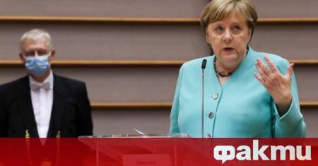 Германският канцлер Ангела Меркел призова за европейска подкрепа за плана