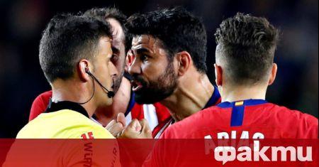 Нападателят на Атлетико Мадрид - Диего Коща, изненадващо е подал