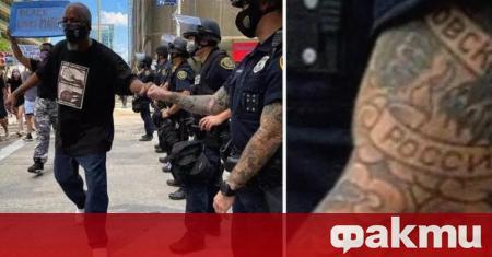 Разкрита е самоличността на американския полицай с татуировка