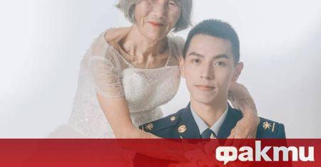 Когато сватбената снимка на 85-годишната баба Танг в бяла рокля