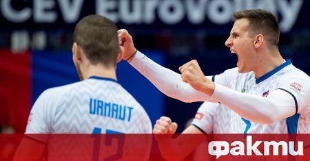 Действащите вицешампиони от Словения се класираха за полуфиналите на Евроволей