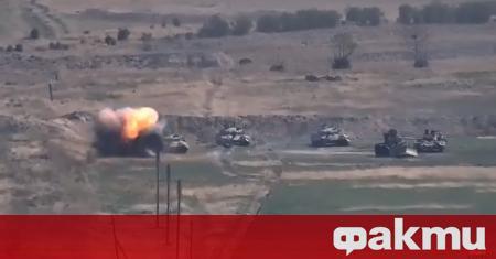 Боевете между арменски и азербайджански сили за отцепническия регион Нагорни
