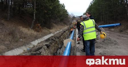 Поради строително-монтажни дейности по свързването на новия довеждащ водопровод за
