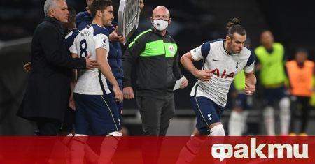 Мениджърът на Тотнъм Жозе Моуриньо захапа Гарет Бейл след въпрос
