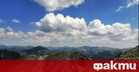 Днес не са изключени превалявания в планинските райони на Западна