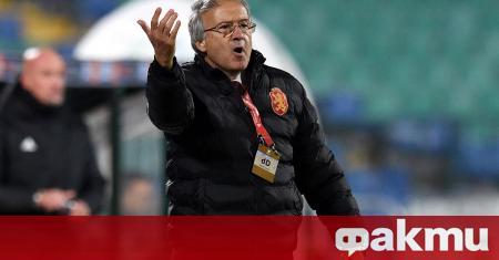Треньорът на националния отбор по футбол Георги Дерменджиев говори пред