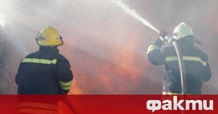 Пожар изпепели къща в Бачково. Огънят е унищожил напълно постройката,