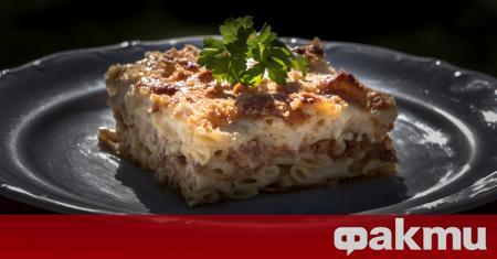 Рецептата за пастицио идва от Гърция и представлява печено ястие
