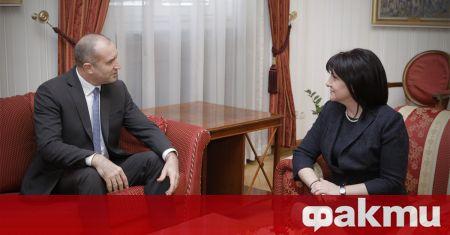 Председателят на Народното събрание Цвета Караянчева и президентът Румен Радев