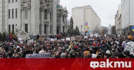 Народни представители от опозицията в Украйна проведоха протест пред европейското