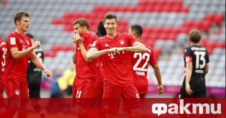Байерн (Мюнхен) разби с 5:0 Фортуна (Дюселдорф) в мач от