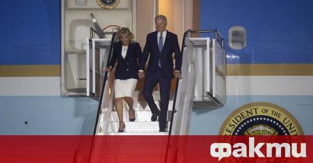 Американският президент Джо Байдън, който пристигна във Великобритания за срещата