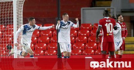 Ливърпул загуби у дома срещу Аталанта с 0:2 в мач