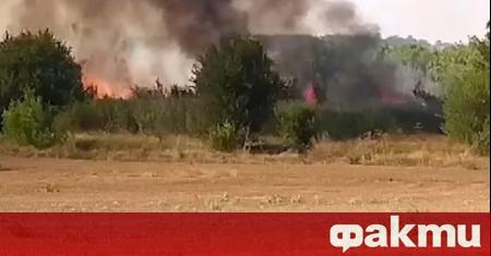 Критична остава обстановката в Хасковско. Огънят обхвана общо около 100