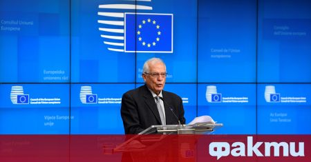 Върховният представител на ЕС по външните работи Жозеп Борел пристигна