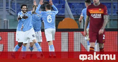 Лацио унищожи Рома с 3:0 в дербито на Рим. Небесносините