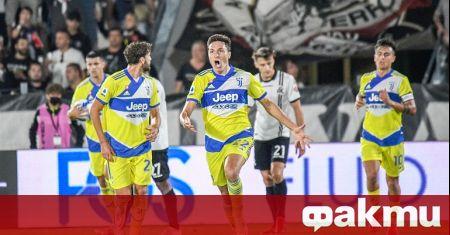 Отборите на Специя и Ювентус играят при резултат 2:3 в