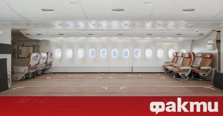 Португалската авиокомпания за чартърни полети Hi Fly показа първия в