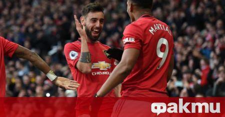 Халфът на Манчестър Юнайтед Бруно Фернандеш бе избран за Играч