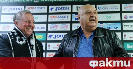 Босът на Славия Венци Стефанов представи официално новия треньор на