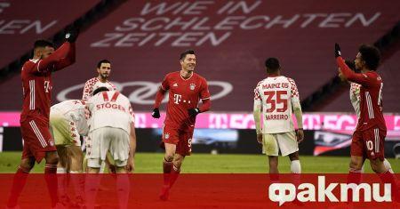 Байерн Мюнхен разгроми гостуващия Майнц 05 с 5:2 в последен