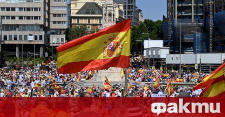 Десетки хиляди протестираха в Испания, съобщи Ел Паис. Протестът е