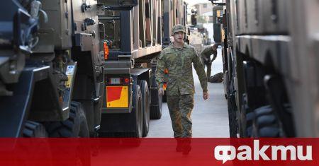Военни бяха разположени днес из улиците на Сидни, за да