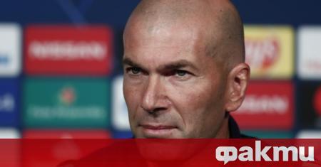 Наставникът на Реал Мадрид Зинедин Зидан е провел разговор с
