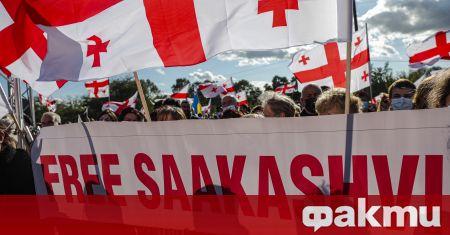 Поддръжници на Михаил Саакашвили провеждат голям митинг в Грузия, съобщи
