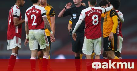 Домакинската загуба на Арсенал с 1:2 като домакин на Уулвърхемптън