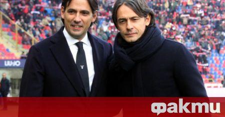 Треньорът на Лацио Симоне Индзаги е новият фаворит да поеме