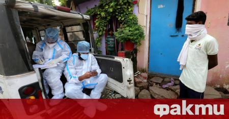Индия регистрира най-големият досега брой нови случаи на заразени с
