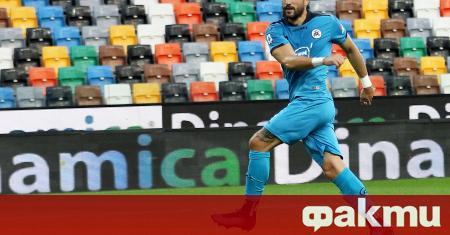 Българският нападател Андрей Гълъбинов от новака в италианския футболен елит