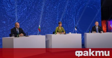 Президентите на България и Естония Румен Радев и Керсти Калюлайд