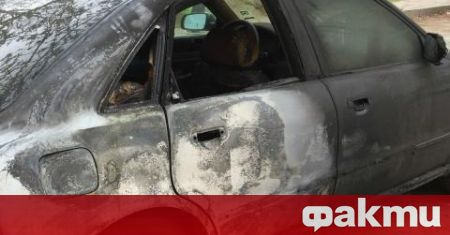 Автомобил се запали на оживено столично кръстовище в час пик