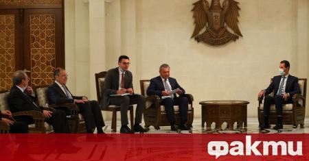 Руският външен министър Сергей Лавров пристигна в Дамаск на първото