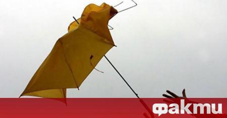 Жълт код за силен вятър е обявен в 9 области