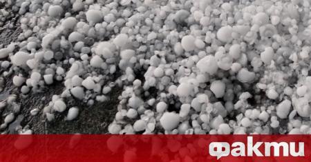Проливен дъжд, примесен с градушка, се е излял над Враца
