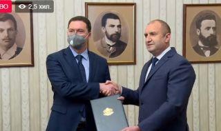 Радев връчи мандата за съставяне на правителство на ГЕРБ-СДС (ВИДЕО) - 1