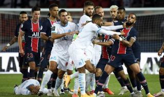 Дербито между ПСЖ и Марсилия завърши с изненадващ победител и пет червени картона