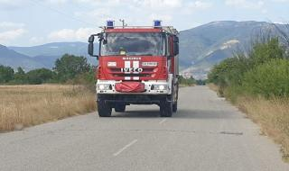10 000 дка горят в Хасковско, евакуираха село