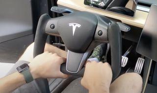Новият волан на Tesla вече е достъпен и за други модели (ВИДЕО)