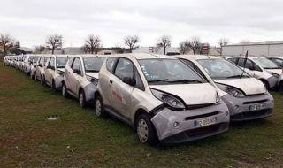Защо стотици електрически коли са изоставени близо до Париж?