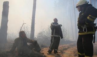 Горските пожари край Чернобилската АЕЦ са напълно потушени