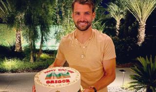 Григор Димитров се похвали със страхотен подарък за рождения си ден