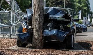 Шофьор бере душа след зверски удар в дърво